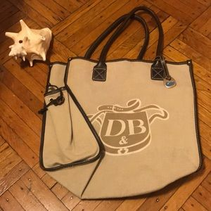 Dooney and Bourke Large Canvas Tote Bag
